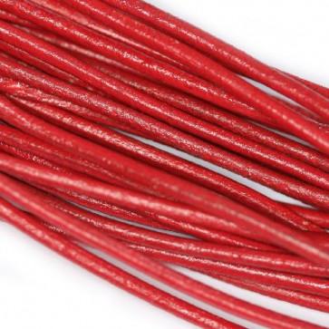 usnjena vrvica 1,5 mm, rdeča, 1 m
