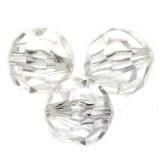 "plastične perle, ""nepravilno"" okrogle 10 mm, prozorne, 50 gr"