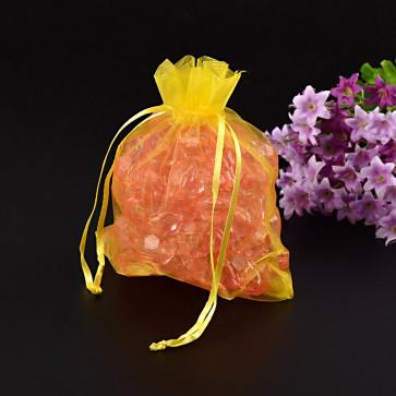 organza vrečke 13x16 cm, rumene, 1 kos
