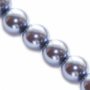 steklene perle, okrogle 8 mm, modre, 1 niz-80 cm