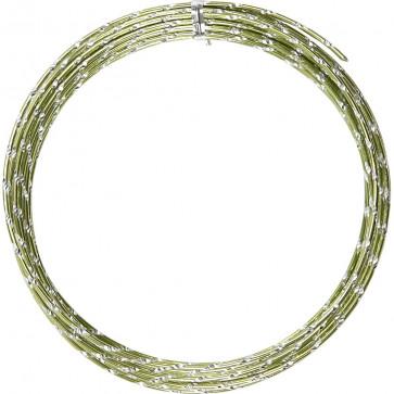 aluminijasta barvna žica za oblikovanje, 2 mm, zelena - rezana, 7 m