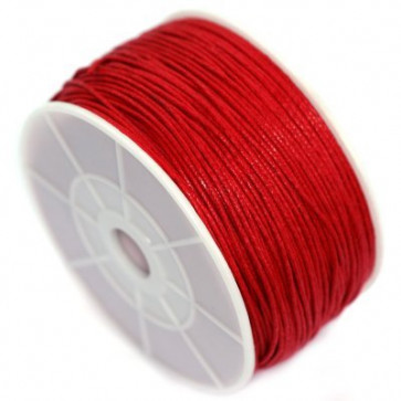 bombažna vrvica 1 mm, rdeča, dolžina: 80 m