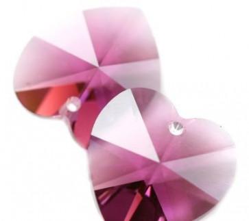 obesek Swarovski srce 10,3 x 10 mm, amethyst, 1 kos