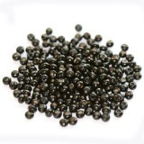 lesene perle, okrogle 3x4 mm, črne, 50 gr