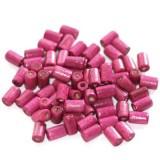 lesene perle, cevne 8x4 mm, roza, 50 gr