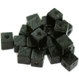 lesene perle, kocke 8 mm, črne, 50 gr