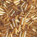 steklene perle cevke 4,5 mm, zlato rumene, 20 gr