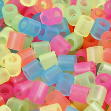 hama perle 5x5 mm, velikost luknje: 2.5 mm, mix - neonske barve, cca 1000 kos