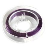 jeklena žica - zajla 0,38 mm, vijola, dolžina, 9 m
