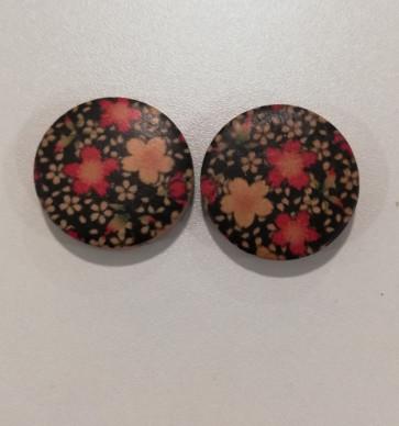 lesene perle ploščate - okrogle 30 mm, 1 kos
