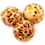 lesene perle okrogle, 20 mm, 50 kos