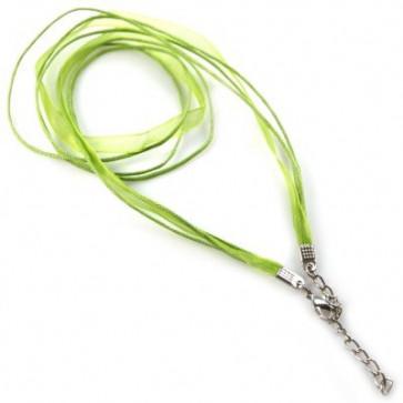 osnova za ogrlico z zaključkom, zelena, 1 kos