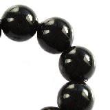 perle Swarovski okrogle, 4 mm, mystic black, 1 kos