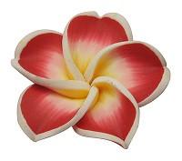fimo roža 34x11 mm, sv. rdeča, 1 kos