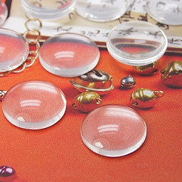 steklena kapljica 16 mm, prozorna, 1 kos