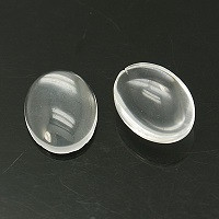 steklena kapljica 30x20x5.4 mm, prozorna, 1 kos