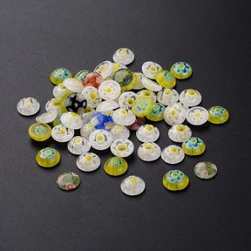 steklena kapljica Millefiori 9.5~10x2.5~4 mm, mix, 1 kos