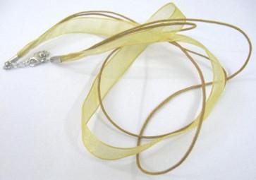 osnova za ogrlico z zaključkom, rjavo zlata, 1 kos