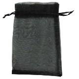 organza vrečke 14x17 cm, črne, 1 kos