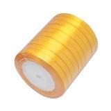 satenast trak zlato rumen, širina: 6 mm, dolžina: 22 m