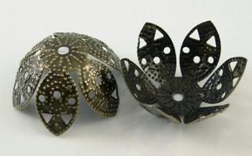 dekorativna kapa 2.3 cm, antik, brez niklja, 1 kos