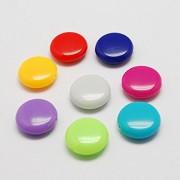 akrilne perle 14x5mm, okrogle-ploščate, mix, 10 kos
