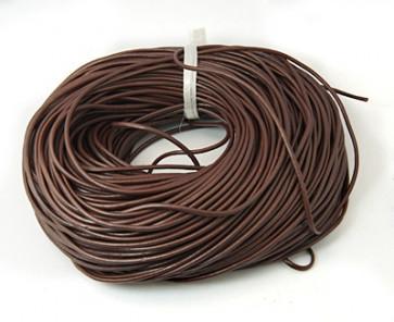 usnjena vrvica 3 mm, rjava, 1 m