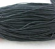 bombažna vrvica črna, 1 mm, dolžina: 10 m