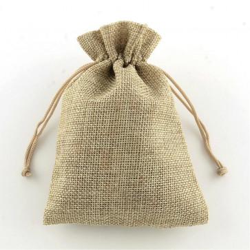 vrečke iz jute 13.5x9.5cm, beige, 1 kos