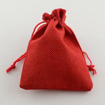 vrečke iz jute 13.5x9.5cm, rdeče, 1 kos