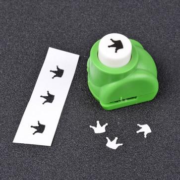 luknjač za papir - mali, krona 7x8 mm, 33x26x32 mm, 1 kos