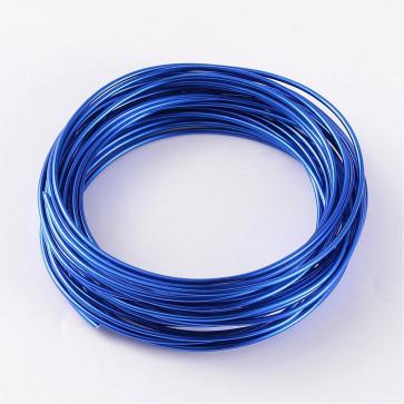 alu barvna žica za oblikovanje, 2 mm, Royal Blue, dolžina: 10 m