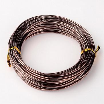 alu barvna žica za oblikovanje, 2 mm, rjava, dolžina: 10 m