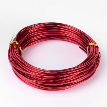 alu barvna žica za oblikovanje, 2 mm, rdeča, dolžina: 10 m
