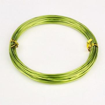 alu barvna žica za oblikovanje, 2 mm, rumeno zelena, dolžina: 10 m