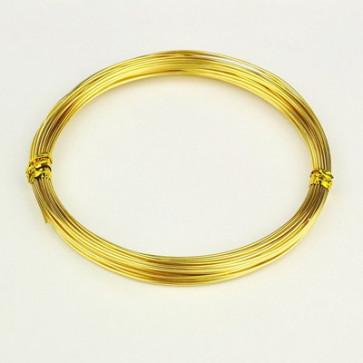 barvna žica za oblikovanje, 1 mm, zlato-rumena, dolžina: 10 m