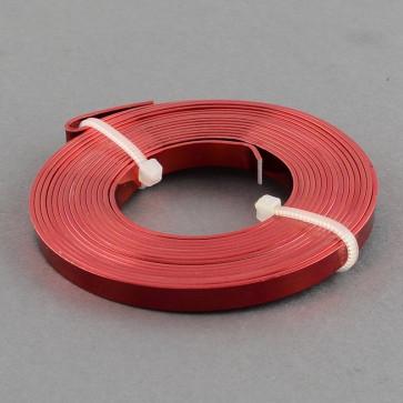 alu barvna žica za oblikovanje - ploščata, širina: 5 mm, debelina: 1 mm, rdeča, 2 m