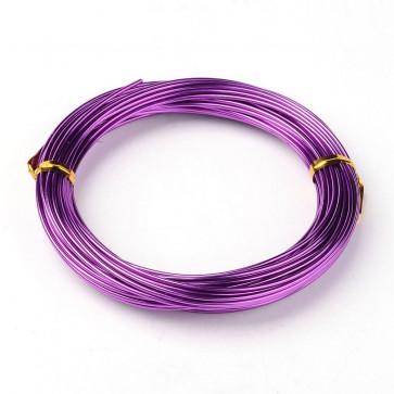 aluminijasta žica za oblikovanje, 1,5 mm, vijola, dolžina: 10 m