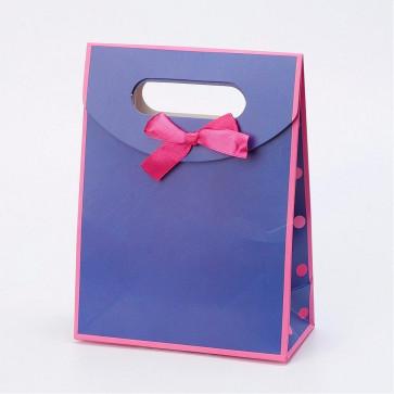 vrečka iz kartona 16.5x12.5x6 cm, viola, 1 kos