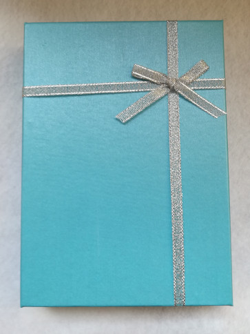 škatla za nakit 180x130x33 mm, sv. modra, 1 kos