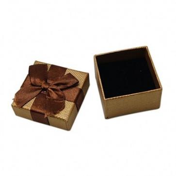 škatla za prstan 50x50x30 mm, rjava, 1 kos