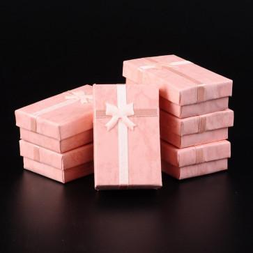 škatla za nakit 80x50x25 mm, marelične barve, 1 kos