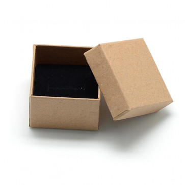 škatla iz kartona za prstan 5x5x4 cm, rjava, 1 kos