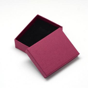škatla za nakit (za prstan in ogrlico) 9x7x3 cm, Fire Brick, 1 kos