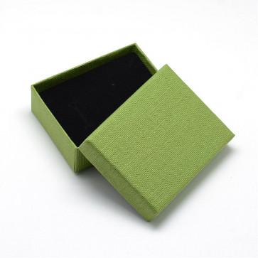 škatla za nakit (za prstan in ogrlico) 9x7x3 cm, Olive Drab, 1 kos
