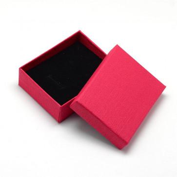 škatla za nakit (za prstan in ogrlico) 9x7x3 cm, rdeča, 1 kos