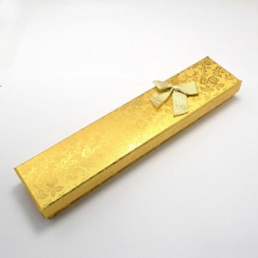 škatla za ogrlico 215x43x24 mm, zlate barve, 1 kos