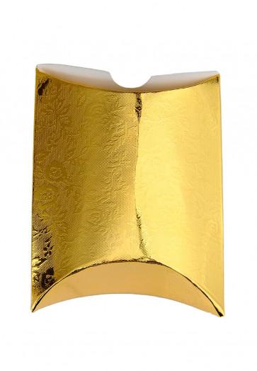 darilna škatla 12x7 cm, zlata - svetlikajoča, 1 kos