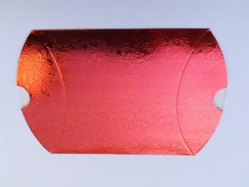 darilna škatla 12x7 cm, oranžno rdeča - svetlikajoča, 1 kos