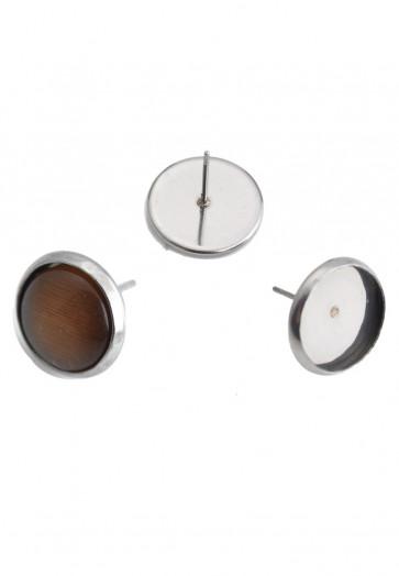 osnova za uhane 14x13 mm, nerjaveče jeklo, velikost kapljice: 12 mm, 1 kos